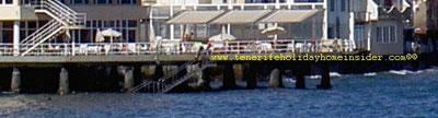 Drywall stilts supporting Hotel Medano