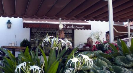 El Aderno Cafe for coffee and Designer sweets and Chocolates.