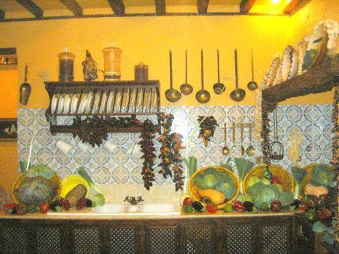 Farm kitchen of Casa Grande Mansion El Durazno Puerto de la Cruz.