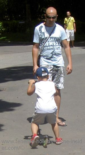Father and son park Santa Cruz