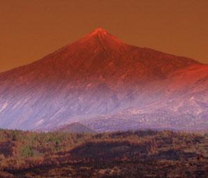 Mount Teide Tenerife as a fire symbol