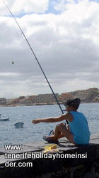 Fishing boy el Medano Tenerife