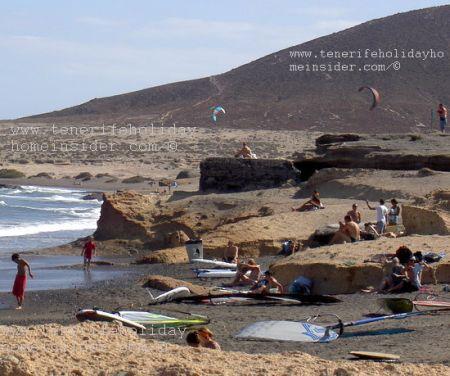 Geology at El Medano Tenerife Spain