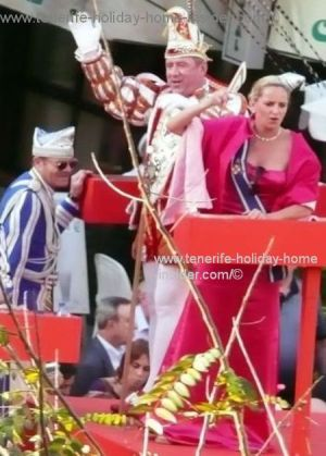 German carnival Tenerife with Dusseldorf royal Carnival couple  Prince Thomas II and Venetia Anke  2011/2012