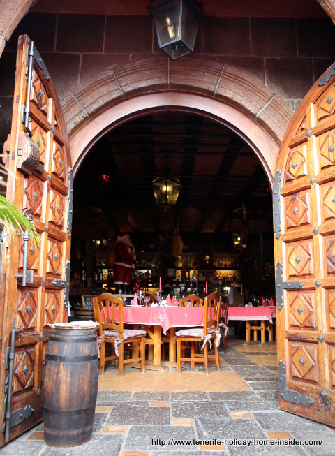 Hacienda San Pedro Restaurant portrayed by its inviting,  luxury portal that draws you in.