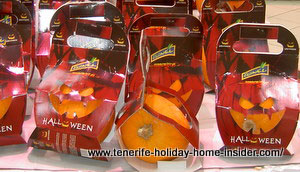 Halloween pumpkins in molds  for carving