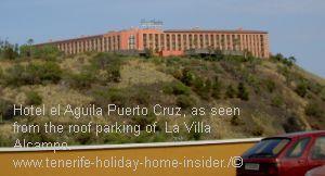 Hotel el Aguila landmark opposite biggest Tenerife North shopping center