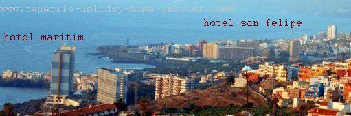 Hotel Maritim Tenerife bordering Puerto de la Cruz and Los Realejos