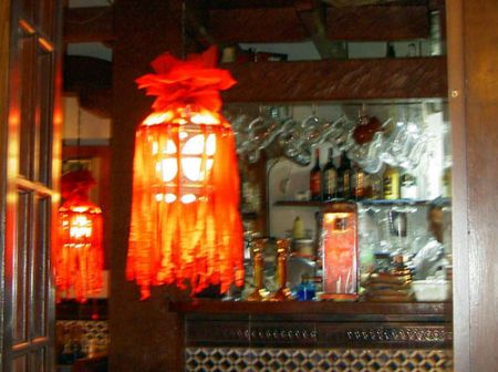 Lamp carnival decoration seen eating out at the Casona.
