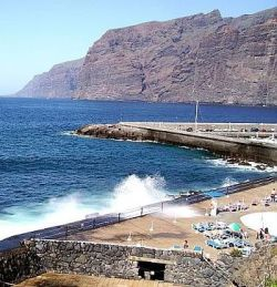 Lido Los Gigantes by the giant cliffs of Tenerife Spain.