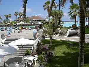 lido on terraces in Puerto de la Cruz Tenerife