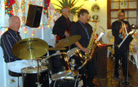 Live jazz entertainment at central Restaurant of Puerto Cruz
