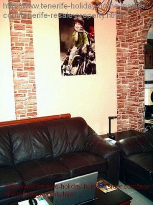 Lounge with new settee of Apartment los Gigantes