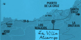Map la villa al campo Tenerife
