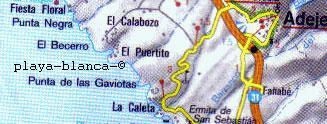 Map Tenerife White beach