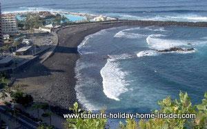 Martianez beach front view from Hotel Semiramis Tenerife