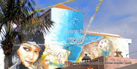 Meaningful art of wall painting in Tenerife's Mueca