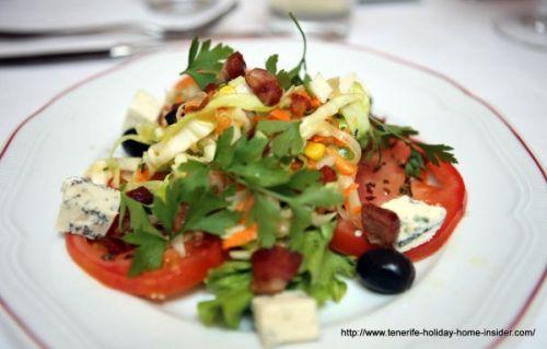 Menu starter low cost salad by Richard Etherington.