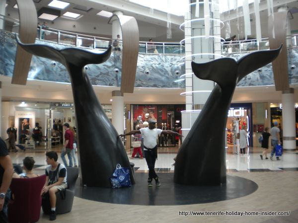 Meridiano shopping mall inside in Tenerife capital