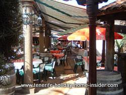Courtyard with stunning restaurant