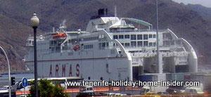 Naviera Armas ferry for Tenerife to Cadiz