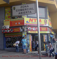 NTM electronics shop Puerto de la Cruz