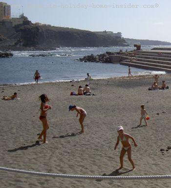 Playa Bajamar beach with saltwater pools