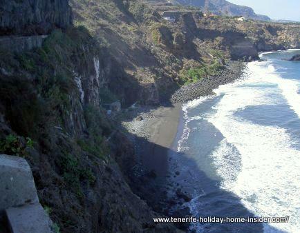 Playa de la Fajana spotted from the ruin of la La Gorguela