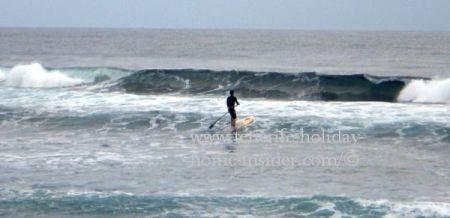 Playa El Socorro with swell for SUP and surf