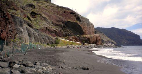 Playa las Gaviotas naturist beach of Santa Cruz de Tenerife the capital.