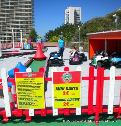 Racing circuit for mini carts at a Puerto de la Cruz children Park in Tenerife.