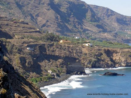 Realejos coast with beaches of Fajana, Camelo, Castro and el Socorro behind the bend.