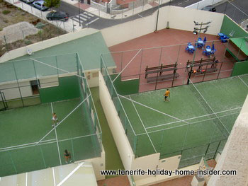 Resort property courts for sports