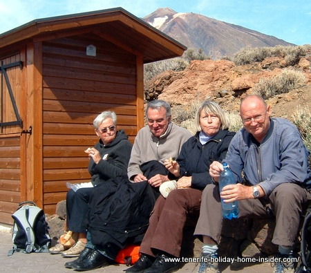Retirees by Mount Teide