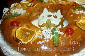 Roscon de Reyes Tenerife Christmas cake