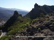 Rugged peaks by Tenerife's oldest coast