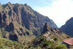 rugged slopes of mountain village Masca