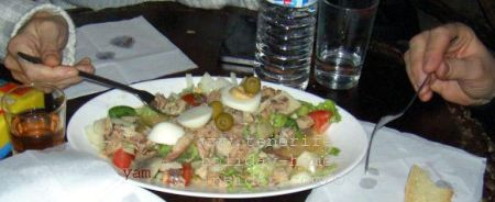 Salad with Yam to be shared