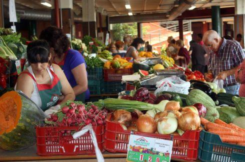 Shopping in Tenerife at farmers and craft market Mercadillo La Matanza.