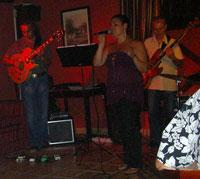 Anna Rodriguez singing the blues at luxury Abaco Tenerife