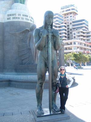 Statue for liberty Santa Cruz Tenerife