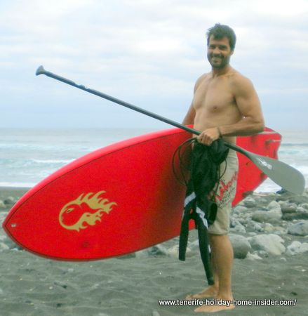 SUP surf expert of stand up paddle surfing Realejos