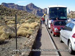 Teide Parador hotel bus lane