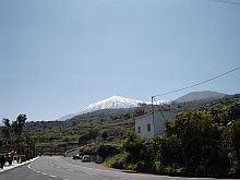 Teide with snow in Tenerife