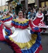 Tenerife carnival with amazing costumes