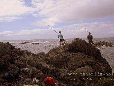 Tenerife fishing spots, such as El Guindaste of Los Realejos.