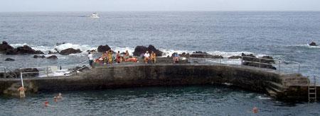 Tenerife North swimmers caught on camera  in Puerto de la Cruz in Winter in November 2008.