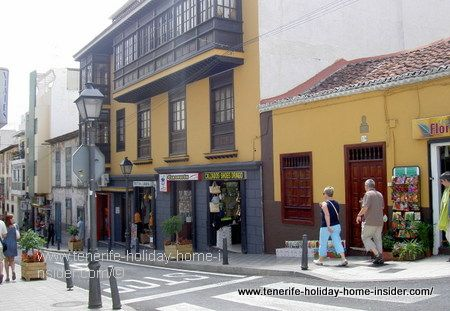 Puerto de la Cruz shops in Calle Dr.Ingram Puerto de la Cruz