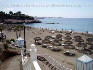 Tenerife south beach Adeje at El Duque