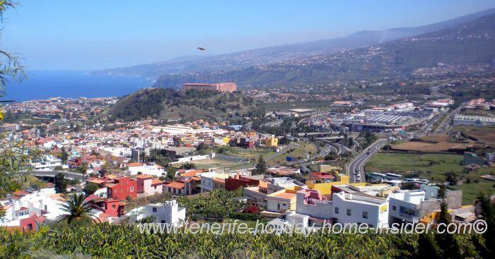 The Tenerife towns of the Orotava valley Los Realejos,Puerto de la Cruz and La Orotava